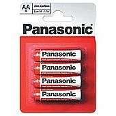 12 x 4 Pcs Pack Panasonic R6RZ-4BP AA Size Zink Carbon Battery (48 Batteries)