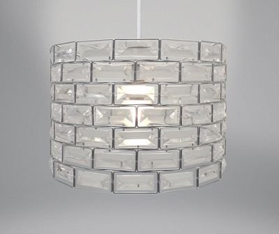 Country Club Metal Light Shade, Silver Gem