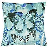 Tesco Velvet Butterfly Cushion
