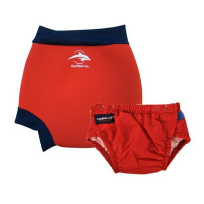 Konfidence Swim Nappy and Neo AquaNappy Red