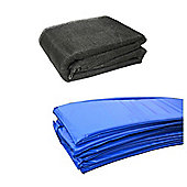 8 Ft Trampoline Accessory pack - Blue Pad and Netting