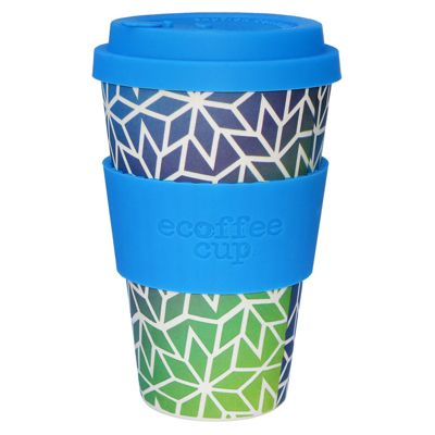 Ecoffee Cup Stargate with Sky Blue Silicone 14oz