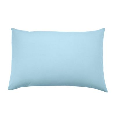 Homescapes Blue Continental Rectangular Pillowcase 100% Egyptian Cotton Pillow Cover 200 TC, 40 x 80 cm