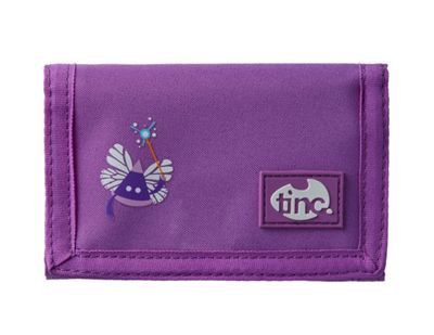 Tinc Ooloo Tribal Character velcro wallet with 2 zip pockets and card slots - Purple