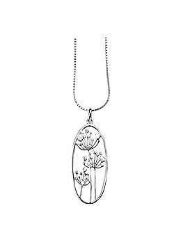 Sterling Silver Cow Parsley Pendant