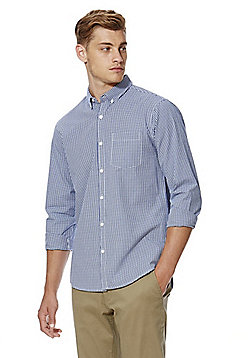 F&F Gingham Shirt - Navy & White
