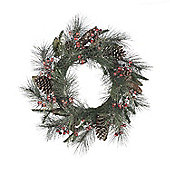 Berry and Cone Glitter Christmas Wreath, 60cm