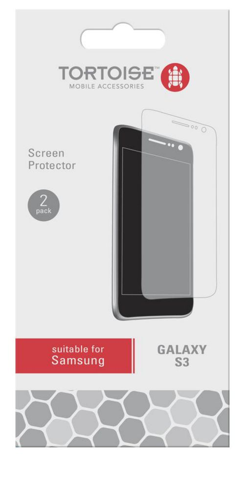 Tortoise™ Samsung Galaxy SIII Screen Protector Twin Pack