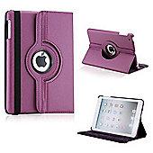 Rotating PU Leather Case for Apple iPad Mini 1, 2 & 3 - Purple