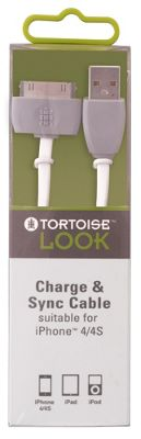 Tortoise Look Charge & Sync Cable, Grey.
