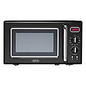 Belling FMR2080S-BLK Retro Microwave with 800W Power and 8 Functions in Black