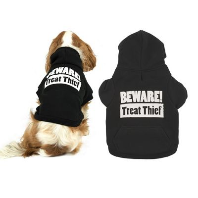 Ancol Black Treat Hoodie - Extra Small