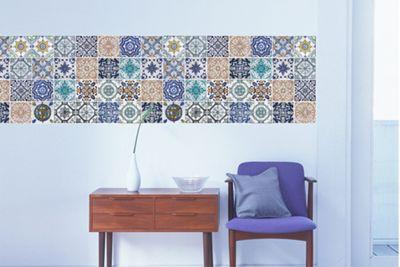 Walplus Mosaic Tile Pattern Wall Stickers