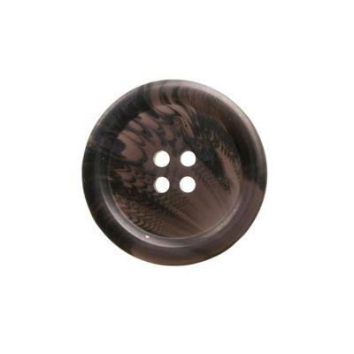 Hemline Four Hole Dark Brown Buttons 15mm 10pk