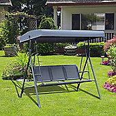 Outsunny 3 Seater Swing Chair Garden Hammock (Olive Grey, 178L x 111W x 155H cm)