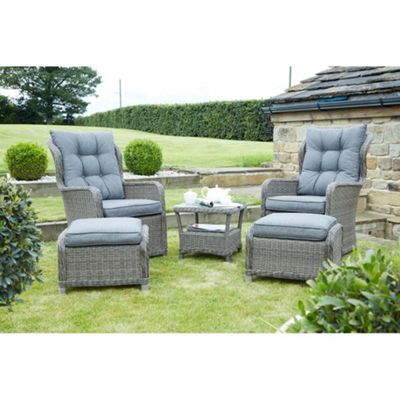 Charcoal Grey St Kitts 5 Pce Chair Set