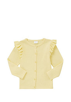 F&F Frill Sleeve Cardigan with As New Technology - Yellow
