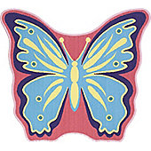 Butterfly Shaped Rug 90 x 80 cm