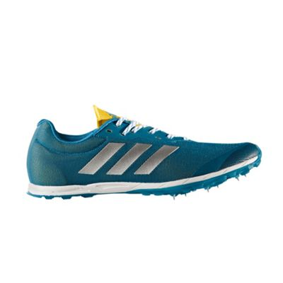 adidas XCS Mens Cross Country Running Spike Shoe Petrol Blue - UK 6