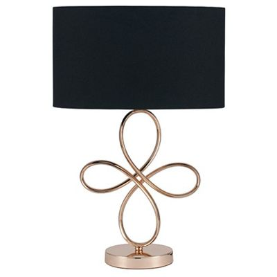 Gold Metal Table Lamp Complete