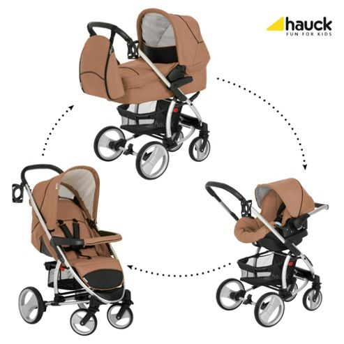 Hauck Malibu XL All-In-One Travel System, Toast/Black