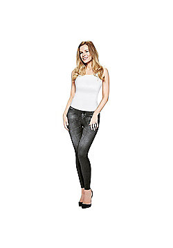 JML Trim 'N' Slim Jeans: Slimming Shapewear Jeggings - Black