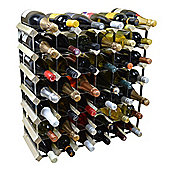Harbour Housewares 42 Bottle Wine Rack - Fully Assembled - Light Wood