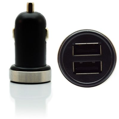 Car Charger│Twin/Dual USB Port│Cigarette Socket Adapter│For Mobile Phone-Tablets