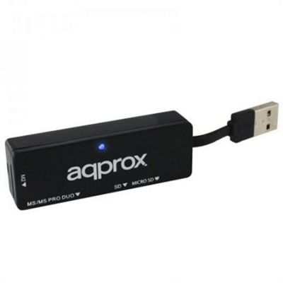 Approx APPCR01B USB 2.0 Black card reader Micro SD/SD/MS/MS-PRO/MS Duo/M2