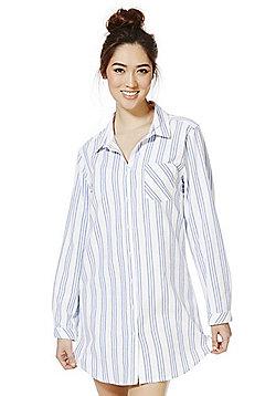 F&F Striped Nightshirt - Blue & White