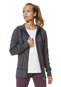 F&F Active Lightweight Fleece Lined Hoodie - Grey