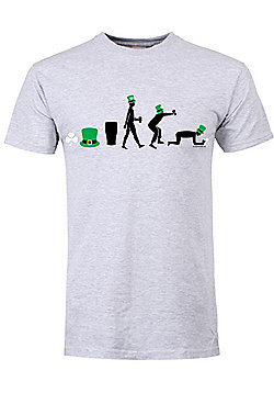 St Patrick's Day Evolution Grey Men's T-shirt - Silver
