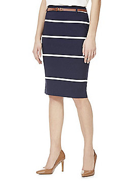 F&F Belted Pencil Skirt - Blue
