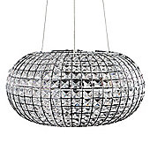 Harvard 3 Way LED Oval K9 Crystal Ceiling Light Fitting