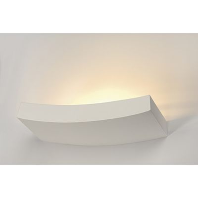 Stunning Design Wall Lamp Curve White Plaster Max. 100W