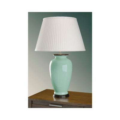 Celadon Crackle Table Lamp - 60W/20W LE E27