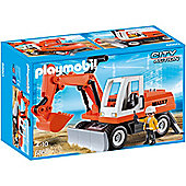 Playmobil City Action Construction Rubble Excavator with Function Shovel and workman