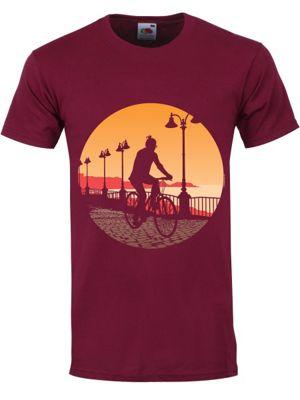 Along The Prom Burgundy Men's T-shirt