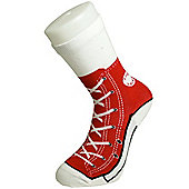 Red Sneaker Silly Socks - UK Size 6 to 12