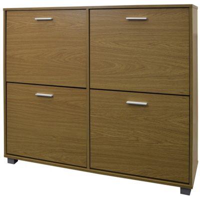 buy xl large 24 pair shoe storage cabinet oak from our. Black Bedroom Furniture Sets. Home Design Ideas
