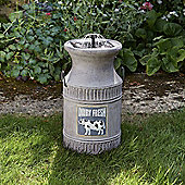 Milk Churn Solar Powered Water Fountain