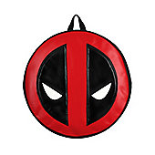 Deadpool Marvel Logo Round Black Backpack