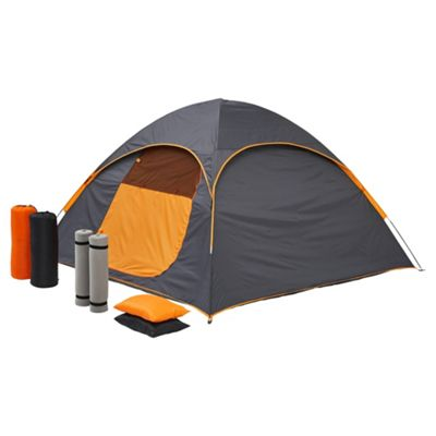 Combo 4 Man Dome Tent Set  sc 1 st  Tesco : 4 man pop up tent tesco - memphite.com