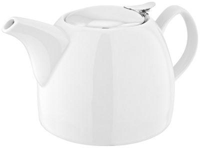 Judge Table Essentials White Porcelain Infuser Tea Leaf Teapot 1.2 Litre