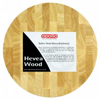 Apollo Hevea Wood Chopping Board Brown