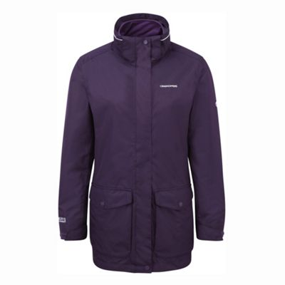 Craghoppers Ladies Madigan III 3in1 Jacket Dark Purple 18