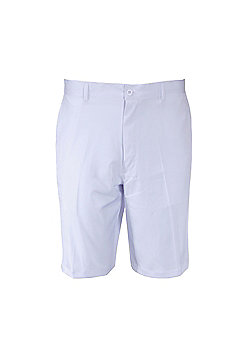 Woodworm Dryfit Flat Front Golf Shorts - White
