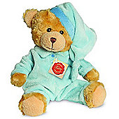 Teddy Hermann 28cm Teddy Bear In Blue Pyjamas Plush Toy