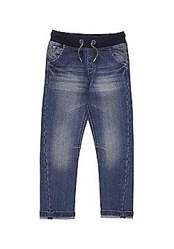 F&F Rib Waist Jeans - Mid wash