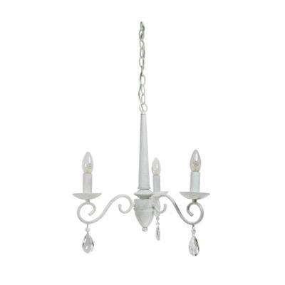 Antoinette 3 light Antique White Electrical Pendant